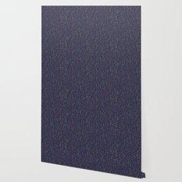 Dark Party Streamers Vector Pattern Wallpaper