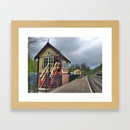 Consall signal box - colour Framed Art Print