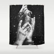 Heart says hold on Shower Curtain
