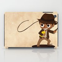 indiana iPad Cases featuring Indiana Jones by Delucienne Maekerr