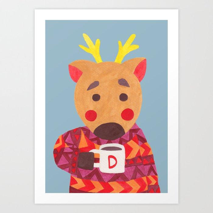 Winter Season is Coming (Deer Edition) Art Print
