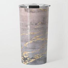 Watercolor Gradient Gold Foil IV Travel Mug