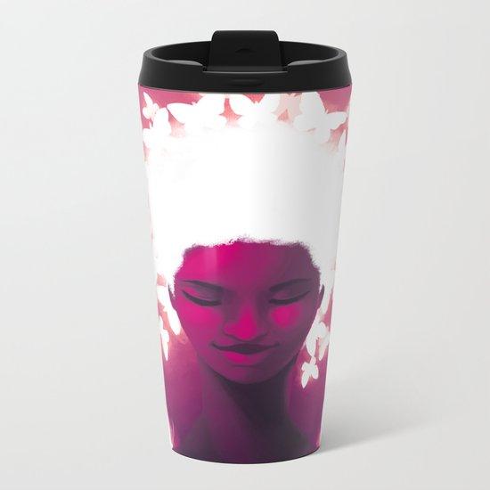 Luminescent Fuchsia Metal Travel Mug