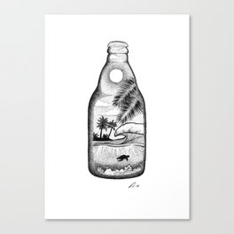 Sip of paradise Canvas Print