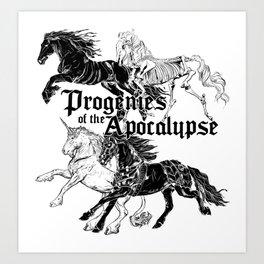 Cavaliers de l'Apocalypse Art Print
