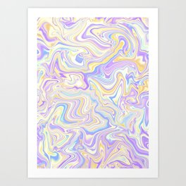Love Spell Marble Lilac Yellow Art Print