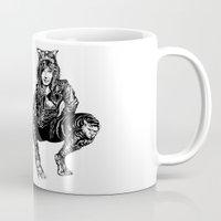gotham Mugs featuring Gotham Catgirl by Chelestino