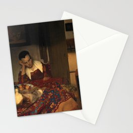 """Johannes Vermeer """"A Woman Asleep at Table"""" Stationery Cards"""