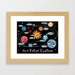 Our Solar System Framed Art Print