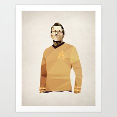 Polygon Heroes - Kirk Art Print