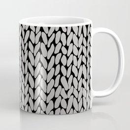 Grey Knit With White Stripe Coffee Mug