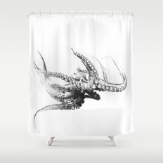 Octopus Rubescens Shower Curtain