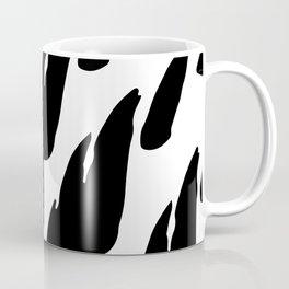 Black Abstract Brush Marks Coffee Mug