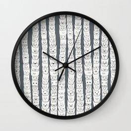 Stacks of cats Wall Clock