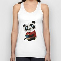 panda Tank Tops featuring Panda by gunberk