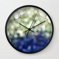 bokeh Wall Clocks featuring Bokeh by N A T