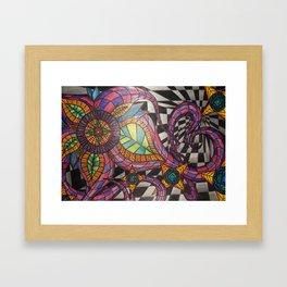 Optical Illusion Flowers Framed Art Print