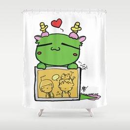 Kuma the dragon Shower Curtain