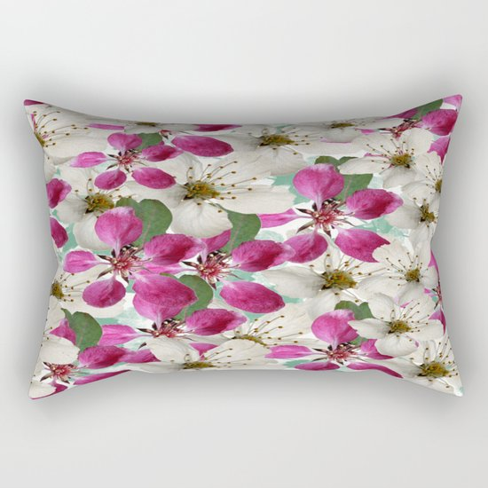 Spring Blossoms Abstract  Rectangular Pillow