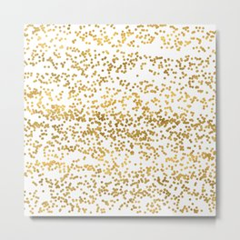 Chic Glam Confetti Dots Metal Print