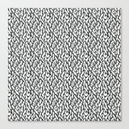 White Ghostly Pattern Canvas Print