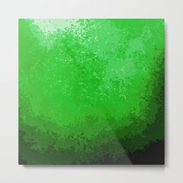 Green Light Cave Metal Print