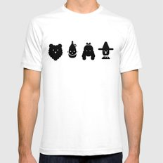 cowardly lion, tin man, dorothy & scarecrow SMALL Mens Fitted Tee White