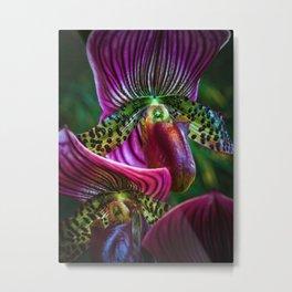 Parrot Petals Metal Print