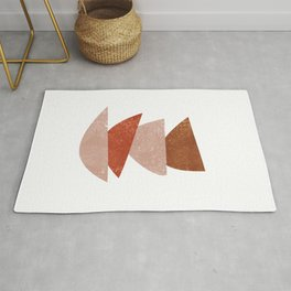 Abstract Bowls 3 - Terracotta Abstract - Modern, Minimal, Contemporary Print - Brown, Beige Rug