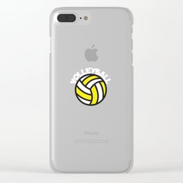 Volleyball curved Clear iPhone Case