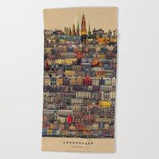 Copenhagen Facades Beach Towel