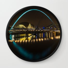 Newcastle at night Wall Clock