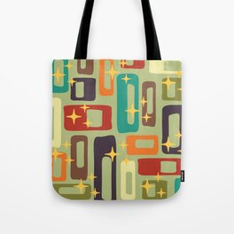 Retro Mid Century Modern Abstract Pattern 225 Tote Bag