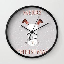 Snowman Yoga - Handstand Wall Clock