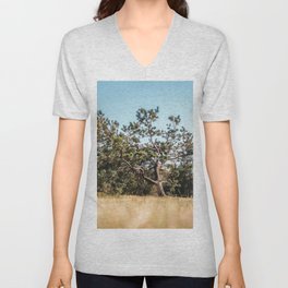 She daydreamed of surreal worlds and they vanished into matter. Unisex V-Neck