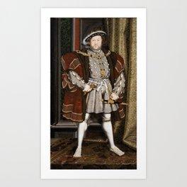 Portrait of Henry VIII - After Hans Holbien the Younger Art Print