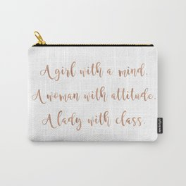 A girl, a woman and a lady - rose gold Carry-All Pouch