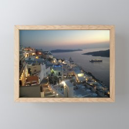 Santorini Framed Mini Art Print