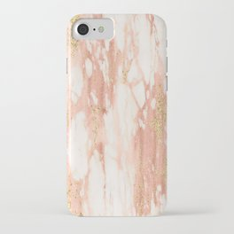 Rose Gold Marble - Rose Gold Yellow Gold Shimmery Metallic Marble iPhone Case
