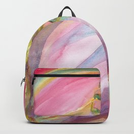 Red Campion Seed Pod -  Abstract Watercolor Painting Backpack