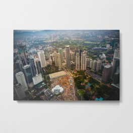 View from the Petronas twin towers Metal Print