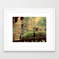 haunted mansion Framed Art Prints featuring Haunted Mansion by Lea Bostwick