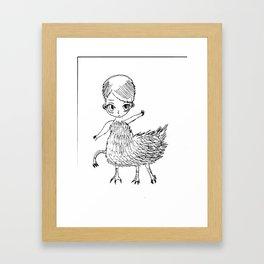 Bird Person Framed Art Print