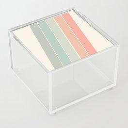 Trippin' - retro 70s socal minimal striped abstract art california surfing vintage Acrylic Box
