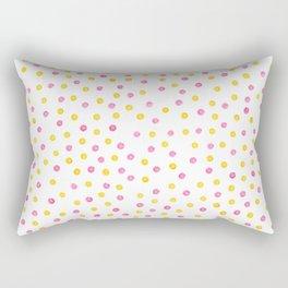 Yellow and pink polka dots Rectangular Pillow