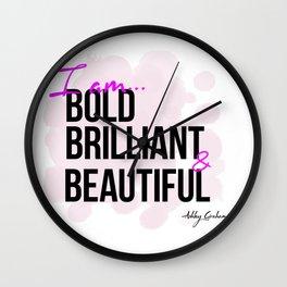 BBB (Bold, Brilliant, & Beautiful) Wall Clock