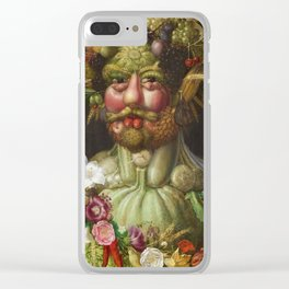 Giuseppe Arcimboldo  -  Rudolf Ii Of Habsburg As Vertumnus Clear iPhone Case