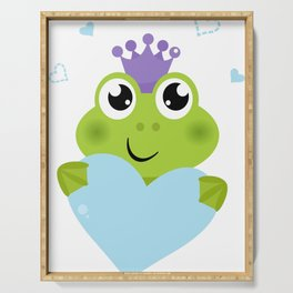 Little cutie smiling  Froggie Serving Tray