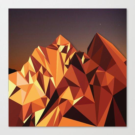 Night Mountains No. 7 Canvas Print