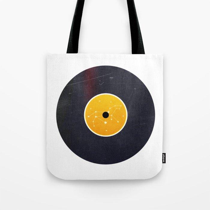 Vinyl Record Star Sign Art | Leo Tote Bag